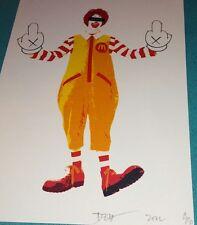 DEATH NYC Ltd Ed signed print A/P artists proof Ronald McDonald Kaws street art