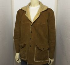Vintage Corral Sportswear Suede Leather Sherpa Lined Marlboro Man Jacket Sz Xl