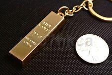 Novelty faux gold bar ingot bullion keyring keychain bag charm (UK stock)