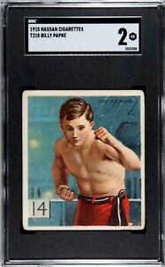 1910 T218 Champions #141 Billy Papke Rookie SGC 2 HOF