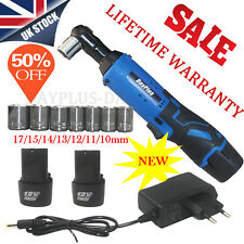 Electric Cordless 12V 3/8'' Angle Wrench Ratchet Right 40N.m & 2 Li-ion Battery