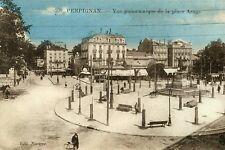 Carte PERPIGNAN Vue panoramique de la Place Arago