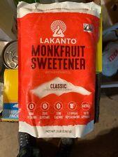 Lakanto Monkfruit Sweetener 1 Sugar Substitute Keto Non GMO Classic WHITE 3 Lbs
