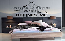 Batman Quote What i do that Defines me Wall Stickers, Decals, Batman wall