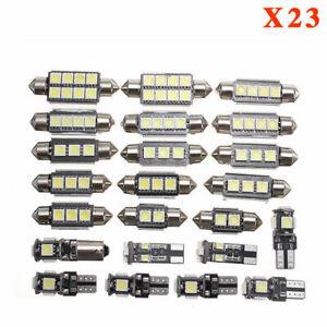 23x  LED Car Interior White Light Dome Trunk Map License Plate Lamp Bulbs Kit