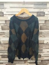 CARLO COLUCCI WOOLLEN DESIGNER MENS VTG RETRO ABSTRACT COSBY JUMPER VGC UK S