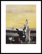 Yves Tanguy Dame a l Absence Poster Bild Kunstdruck im Alurahmen schwarz 90x70cm