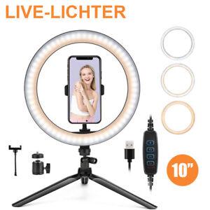 LED Ring Licht Handyhalter Kit Selfie Fotografie Beauty Lampe mit Stativ  26CM