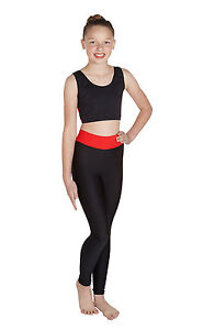 Meryl Freestyle Footless Tights Wide Waistband + Crop Top with Mesh Back