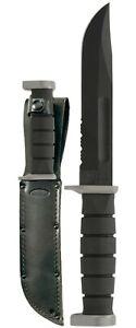 KA-BAR 1283 D2 Extreme Fighting/Utility Knife w/ Leather Sheath
