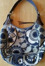 oilily tote handbag purse bag carry all pocketbook canvas leather large