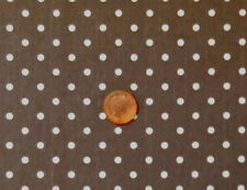 Baby Cough Drops-taupe With Cream 5mm Spots 100 Heavy Cotton Fabric F.q.'s