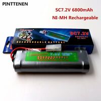 6800mAh 7.2v NiMh RC Toy Flat Racing car replacement battery W/Tamiya Connectors