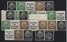 EG-Streifen 1 und ZusDrucke KZ 21 und W 71 -W 77 postfrisch  (B04236)