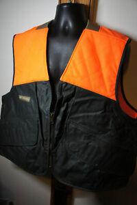 NEW Heavyweight Columbia Sportswear 2XL Blaze Safety Orange Bird Hunting Vest 95