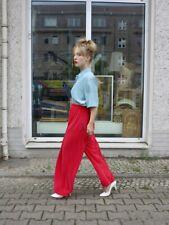 Plisseehose rot high waist Hose 90er TRUE VINTAGE 90s nylon womens pleated pants
