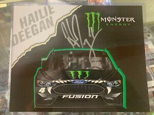 Hailie Deegan Autographed 2020 Monster DGR 1st Version Postcard Signed Nascar