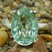Simulated Green Sapphire 925 Sterling Silver Ring Jewelry Size 6-9 DRR1089_C