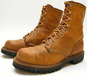 MENS VTG RED WING 890 IRISH SETTER BRN LEATHER LACE UP WORK BOOTS SZ 6.5~1/2 C