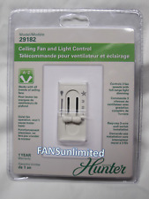 29182 / 27182 Hunter Ceiling Dual Slide Fan and Light Wall Control