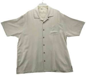 TOMMY BAHAMA Men's Long Sleeve Button Front Shirt Size XL Extra Large Beige