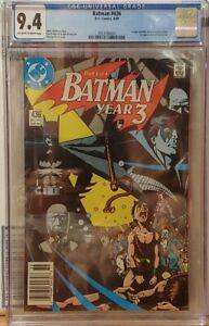 BATMAN #436 CGC 9.4, 1st APPEARANCE OF TIM DRAKE.  RARE NEWSSTAND EDITION!