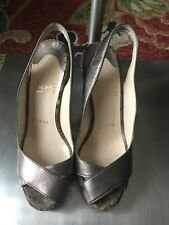 100% Authentic Women Christian Louboutin Sling Wedges Size 6.