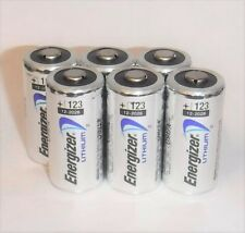 6 - Energizer 3v Lithium Battery 123 CR123 CR123A CR17345 - 2028 - Made in USA!!