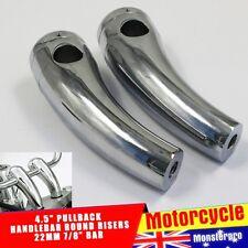"""Custom 7/8"""" 22mm Bars Handlebar 4.5"""" 5"""" Risers For Harley Davidson Honda Suzuki"""