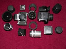 Used like new black and silver Kiev 88CM bundled with lenses