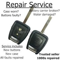 Vauxhall key fix repair Astra Zafira Vectra button remote key fob refurbishment