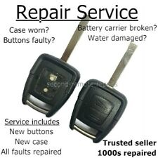 Repair service Vauxhall Astra Zafira Vectra button remote key fob refurbishment