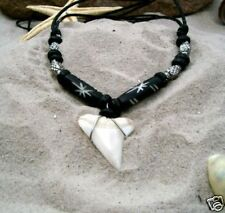 GENUINE SHARK TOOTH SURFER PENDANT NECKLACE /n189pvi