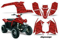 Polaris Scrambler AMR Racing Graphics Sticker Kit 10-12 ATV Quad Decals DIGI RED