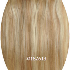 140-200g Clip In 100%  Remy Hair Extension Full Head Half Wig Straight One Piece