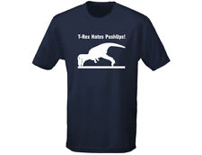 T Rex Hates Pushups Exercise Dinosaur Funny Mens T-Shirt (12 Colours)