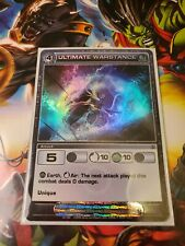 Chaotic Super Rare Ultimate Warstance W/Chaotic Sleeve CCG TCG