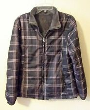 Free Country Gray Plaid Lightweight Jacket Juniors Size Large EUC