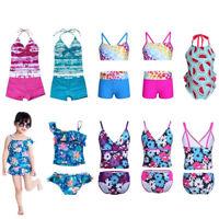 Toddler Kids Baby Girls Tankini Bikini Swimwear Swimsuit Suit Beachwear Bathing