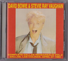 DAVID BOWIE & STEVIE RAY VAUGHAN COMPLETE DALLAS REHEARSALS VOL 2 CD Rare