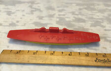 Vintage 1950's Thomas Toy Plastic Aircraft Carrier 6� Toy Ship