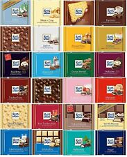 50 RITTER SPORT German Chocolate Bars Wonderful Treats 100g 3.5oz