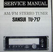 sansui tu-717 am fm stereo tuner service manual inkl. verfahrene bedruckt gebunden englisch