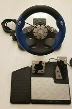 Intec Racing Steering Wheel and Pedals for Xbox GameCube PS1 PS2 Wii G5285-E