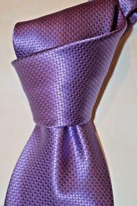"$230 NWOT BRIONI Light Purple Raised dots handmade 3.6"" woven silk tie ITALY"