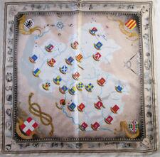 "-Superbe Foulard "" LES ALPES ""   100% soie  TBEG vintage scarf  87 x 90 cm"