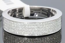 10K WHITE GOLD .50 CT REAL DIAMOND MENS WEDDING RING ANNIVERSARY ENGAGEMENT BAND