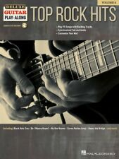 TOP ROCK HITS DELUXE GUITAR PLAY ALONG VOLUME 1 SHEET MUSIC & SONG BACKING TRACK