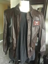 Cooper A-2 Brown Flight US Air Force Bomber Leather Goatskin Jacket 💎 36 Small