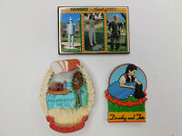 Lot of 3 Wizard of OZ Kansas Dorthy Assorted Refrigerator Magnets Vtg 80s 90